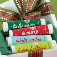 Holiday Greetings Lip Balm Favors