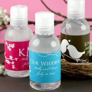 Personalized Hand Sanitizers - Practical Wedding Favors image