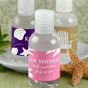 Personalized Hand Sanitizer Beach Favors image