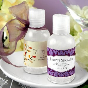 Personalized Wedding Hand Sanitizer Favors image