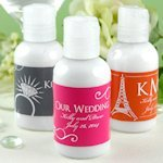 Hand Lotion Personalized Wedding Favors - Silhouette Designs