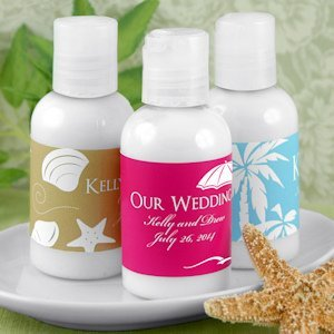 Personalized Hand Lotion Beach Wedding Favors image