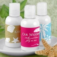 Personalized Hand Lotion Beach Wedding Favors