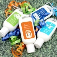 Personalized Sunscreen Birthday Party Favors