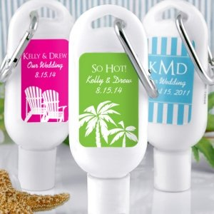 Personalized Sunscreens - Useful Wedding Favors image
