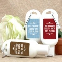 Personalized Rustic Design Sunscreen Favors