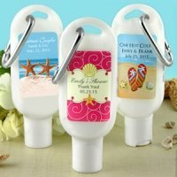 Travel Personalized Sunscreen Favors (Many Designs)