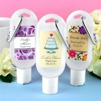Personalized Hand Sanitizer Wedding Favors with Carabiner