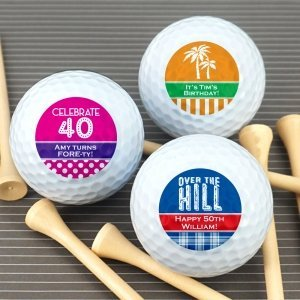 Adult Birthday Golf Ball Favors image