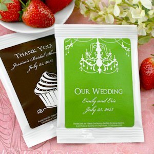 Personalized Silhouettes Strawberry Daiquiri Mix Favors image