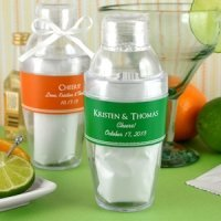 Personalized Drink Shaker Favor with Margarita Mix