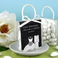 Personalized Silhouette Mini Gift Favor Totes