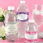 Personalized Wedding Water Bottle Labels (Set of 5)