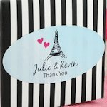 Personalized Oval Wedding Favor Label Stickers (Set of 30)