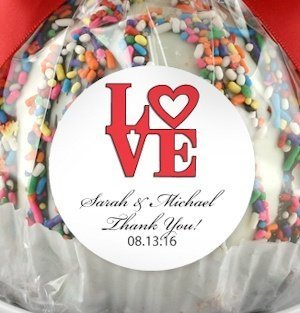 Round 2 inch Wedding Favor Sticker Labels (Set of 15) image