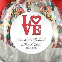Round 2 inch Wedding Favor Sticker Labels (Set of 15)