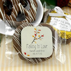 Autumn Gourmet Chocolate Pretzel Favors (Many Designs) image