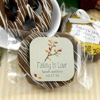 Autumn Gourmet Chocolate Pretzel Favors (Many Designs)