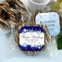 Winter Theme Gourmet Chocolate Pretzel Favors
