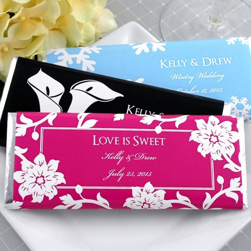 Personalized Wedding Chocolate Bar Favors Many Designs