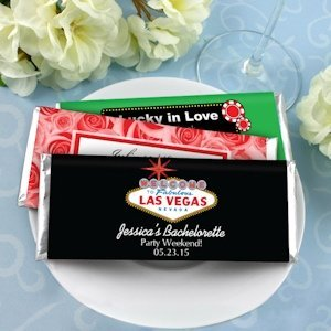 Personalized Las Vegas Favors - Hershey's Chocolate Bars image