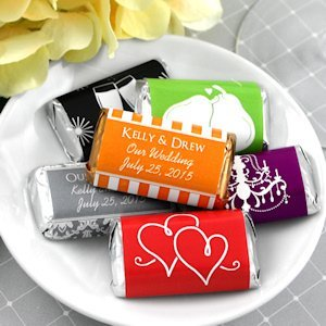 Personalized Mini Wedding Candy Bars (Many Designs) image