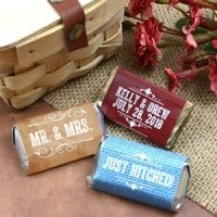 Rustic Silhouette Design Personalized Mini Candy Bars