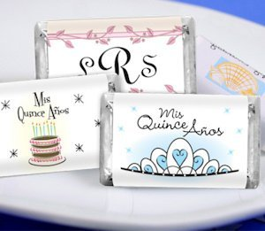 Personalized Quinceanera Mini Candy Bars (19 Designs) image