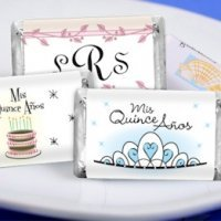 Personalized Quinceanera Mini Candy Bars (19 Designs)