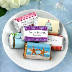 Personalized Wedding Mini Hershey Chocolate Bars Favors image