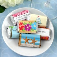Personalized Beach Themed Mini Chocolate Bar Favors