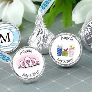 Personalized Quinceanera Chocolate Kisses (19 Designs) image