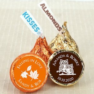 Autumn Wedding Personalized Hershey's Kisses image