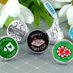 Vegas Theme Personalized Hershey's Kisses image