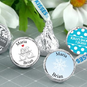 Winter Wedding Personalized Hershey's Kisses image