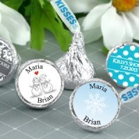 Winter Wedding Personalized Hershey's Kisses