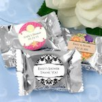 Personalized Peppermint Patty Bridal Shower Candy Favors