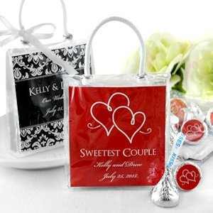Personalized Silhouette Hershey Kiss Favor Totes image