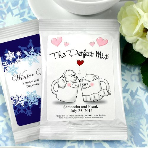 Wedding Favor Gifts: Personalized Wedding Cocoa Favors (Many Designs