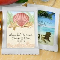 Personalized Beach Wedding Cocoa Favors