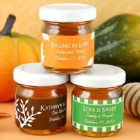 Falling in Love Personalized Autumn Honey Jar Favors