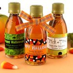 Halloween Maple Syrup Favors