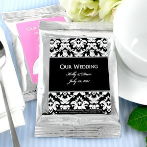 Personalized Coffee Wedding Favors - Silver (Many Designs) image