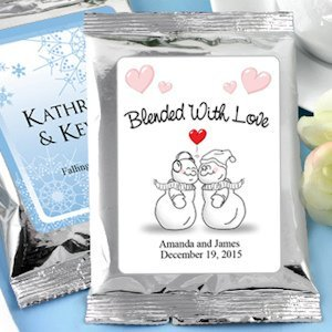 Winter Wedding Personalized Coffee Favors - Silver image