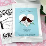 White Personalized Coffee Wedding Favor Bag (Many Designs)