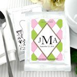 Monogrammed Coffee Party Favors - White (Many Designs)