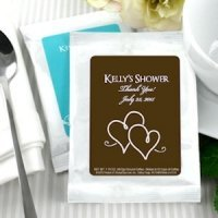 Personalized Coffee Wedding Shower Favors - White