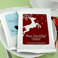 White Holiday Coffee Favors (24 Designs)