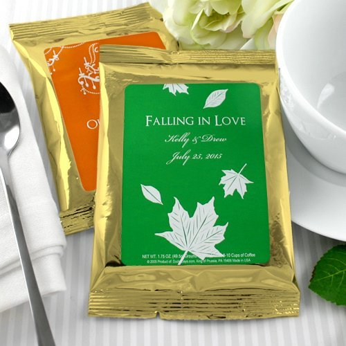 Gold Personalized Wedding Coffee Favor Bags Many Designs