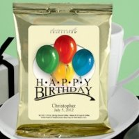 Personalized Birthday Coffee Favors - Gold (Many Designs)